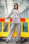 """Женский брючный костюм """"гусиная лапка"""": пиджак и брюки (в расцветках), фото 3"""
