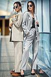 """Женский брючный костюм """"гусиная лапка"""": пиджак и брюки (в расцветках), фото 5"""