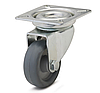 Колесо с поворотным кронштейном с площадкой, диаметр 100 мм, нагрузка 75 кг