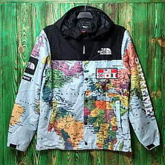 Куртка Supreme x TNF Expedition Coach Map blue