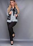 Стильный женский брючный костюм большого размера  50,52,54,56, фото 2