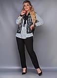 Стильный женский брючный костюм большого размера  50,52,54,56, фото 3
