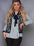 Стильный женский брючный костюм большого размера  50,52,54,56, фото 4
