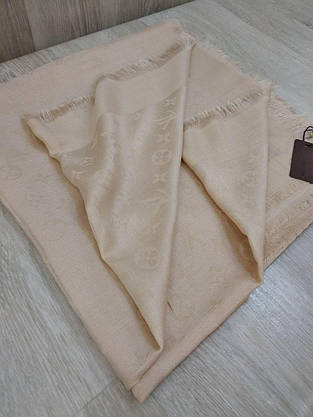 Платок Louis Vuitton бежевый, фото 3