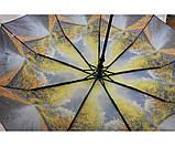 Женский зонт автомат Calm Rain  осень а490/3, фото 5