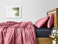 Комплект евро взрослого постельного белья сатин PUDRA GREY-S