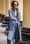 Женский стильный кардиган с поясом и карманами (в расцветках), фото 8