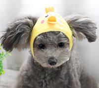 Шапка для собак «Цыпленок», размер M