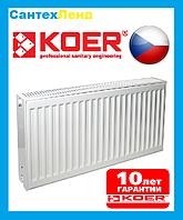 Радиатор стальной Koer 22k 500*500 боковое подключение