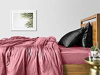 Комплект евро взрослого постельного белья сатин PUDRA BLACK-P