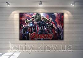 """Плакат для Кенді - бару 120х75 см (Тематичний) """"Месники/Супергерої/Марвел"""" Бордовий-"""