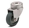Колесо с поворотным кронштейном с отверстием, диаметр 75 мм, нагрузка 50 кг