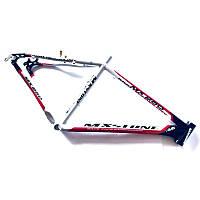 Рама MX Stone велосипедная алюминиевая. Ростовка 19. Бело-Черная, фото 1