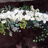 Экзотик-композиция из белых цветов и зелени, фото 4