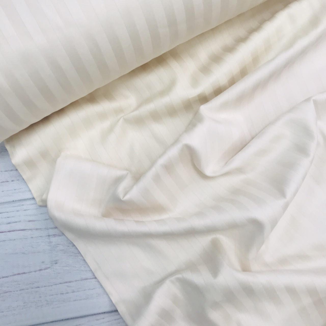 Сатин 100% хлопок  (ТУРЦИЯ шир. 2,4 м) Stripes цвет кремовый