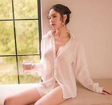 Комплект белая рубашка  шифон +трусы 322-04, фото 2