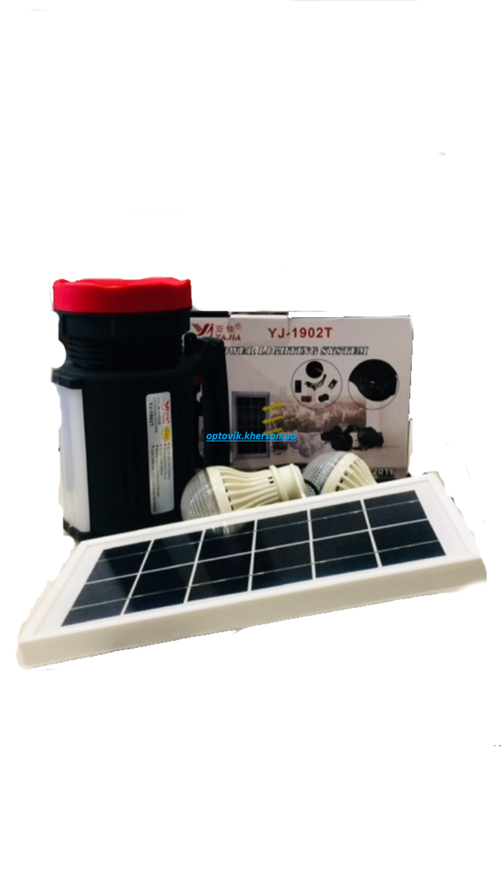 Фонарик прожектор Yajia-1902T 5W+22LED USB Power Bank/Solar