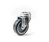 Колесо з поворотним кронштейном з отвором, діаметр 100 мм, навантаження 75 кг