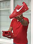 Мужские кроссовки Nike Air Force 1 (красные), фото 2