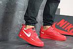 Мужские кроссовки Nike Air Force 1 (красные), фото 3