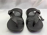 Стильные кожаные сандалии-шлёпанцы Bertoni, фото 4