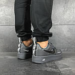 Мужские кроссовки Nike Air Force 1 (серые), фото 3