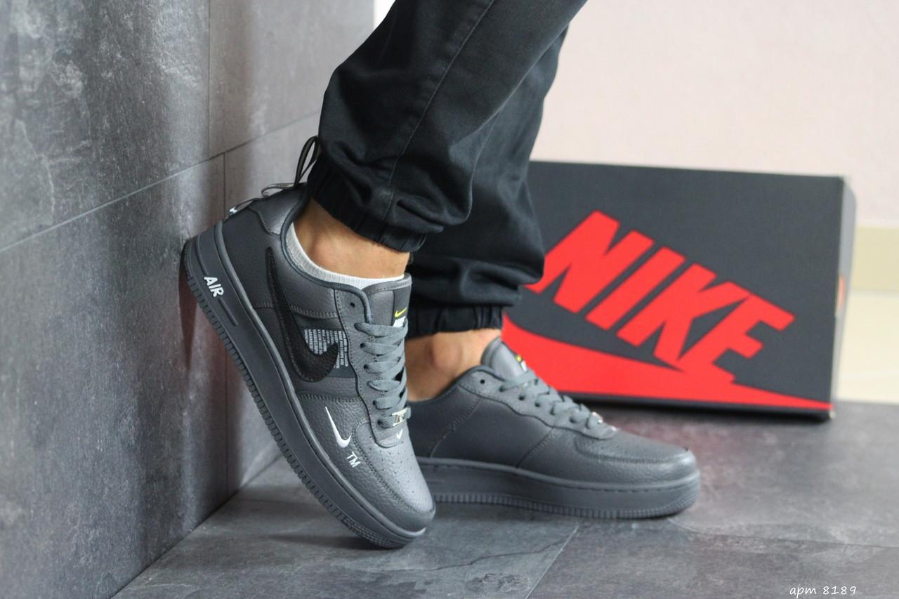 Мужские кроссовки Nike Air Force 1 (серые)