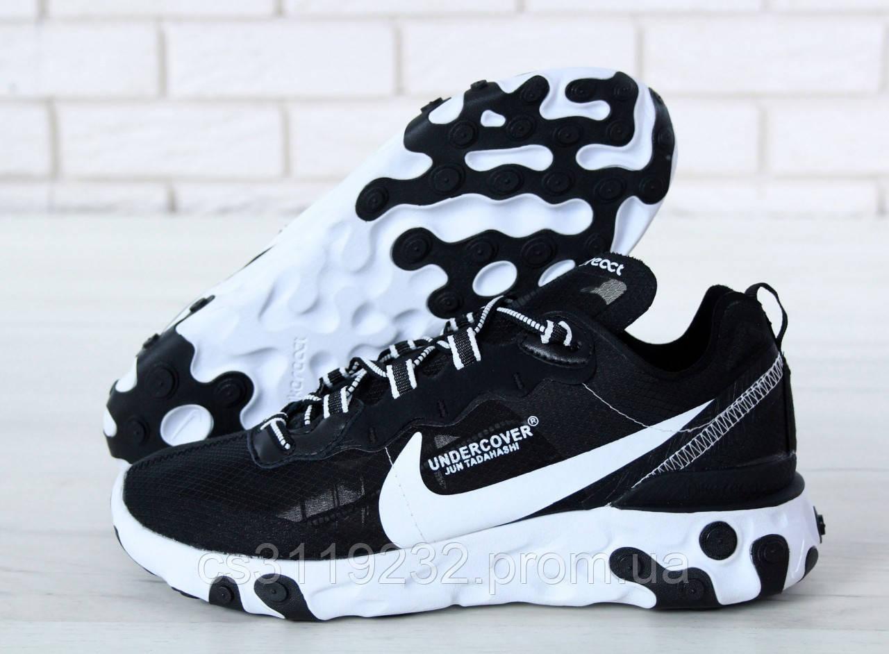 Мужские кроссовки Nike Undercover X React Element 87 (черные)