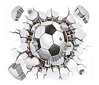 3D интерьерные виниловые наклейки на стены Мяч Футбольный 40-50 см в детскую . Декор, Обои 3D интерьерные вини