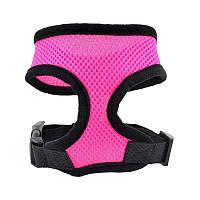 Шлейка-сеточка для собак, розовый