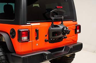 Крепление запасного колеса Jeep Wrangler JL к задней двери для колеса до 35 дюймов