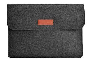 """Чехол конверт для MacBook Retina 13.3 """" войлок черный"""