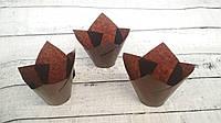 Формы бумажные для кексов Тюльпан 50*75 мм, коричневые