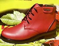 Ботинки женские на низком каблуке из натуральной кожи от производителя модель ВЛ954