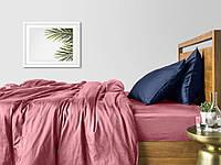 Комплект евро взрослого постельного белья сатин PUDRA BLUE-P