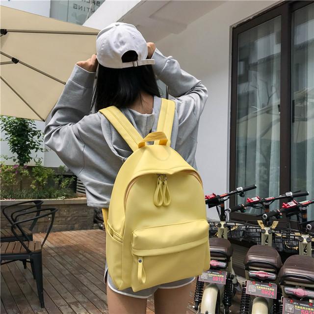 Рюкзак школьный из кожзама желтый