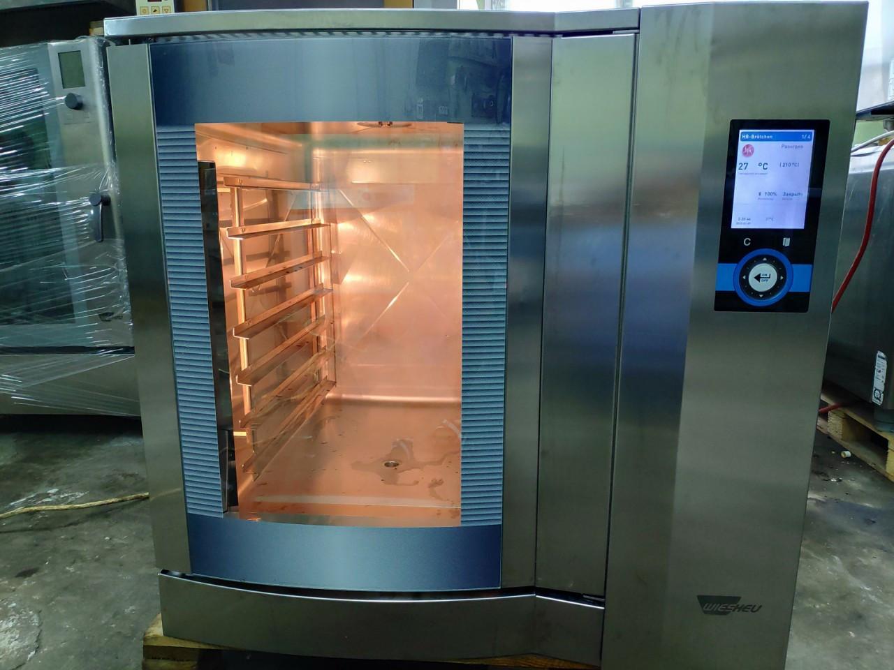 Wiesheu Dibas 64 blue M Конвекционная печь с утапливаемой дверью русский язык с функцией мойки   (7 противней)