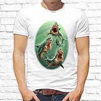Мужская футболка Push IT с принтом Акулы