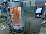 Wiesheu Dibas 64 blue M Конвекционная печь с утапливаемой дверью русский язык с функцией мойки   (7 противней), фото 5