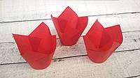 Формы бумажные для кексов Тюльпан 50*75 мм,Красные