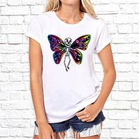 Женская футболка Push IT с принтом Бабочка