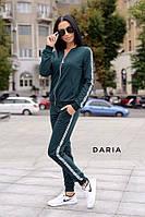 Костюм женский спортивный кофта на молнии и штаны с лампасами Dch1729, фото 1