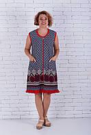 Женский халат без рукава c рюшей, фото 1