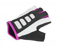 AUTHOR Перчатки женские Author Lady Sport Gel X6 размер L, черно белые с неоново розовыми вставками