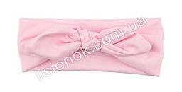 Стильная повязка (солоха) на голову для маленьких принцесс и юных леди и мам светло-розовый