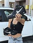 Женские кроссовки Nike Air Force 1 (черные), фото 3