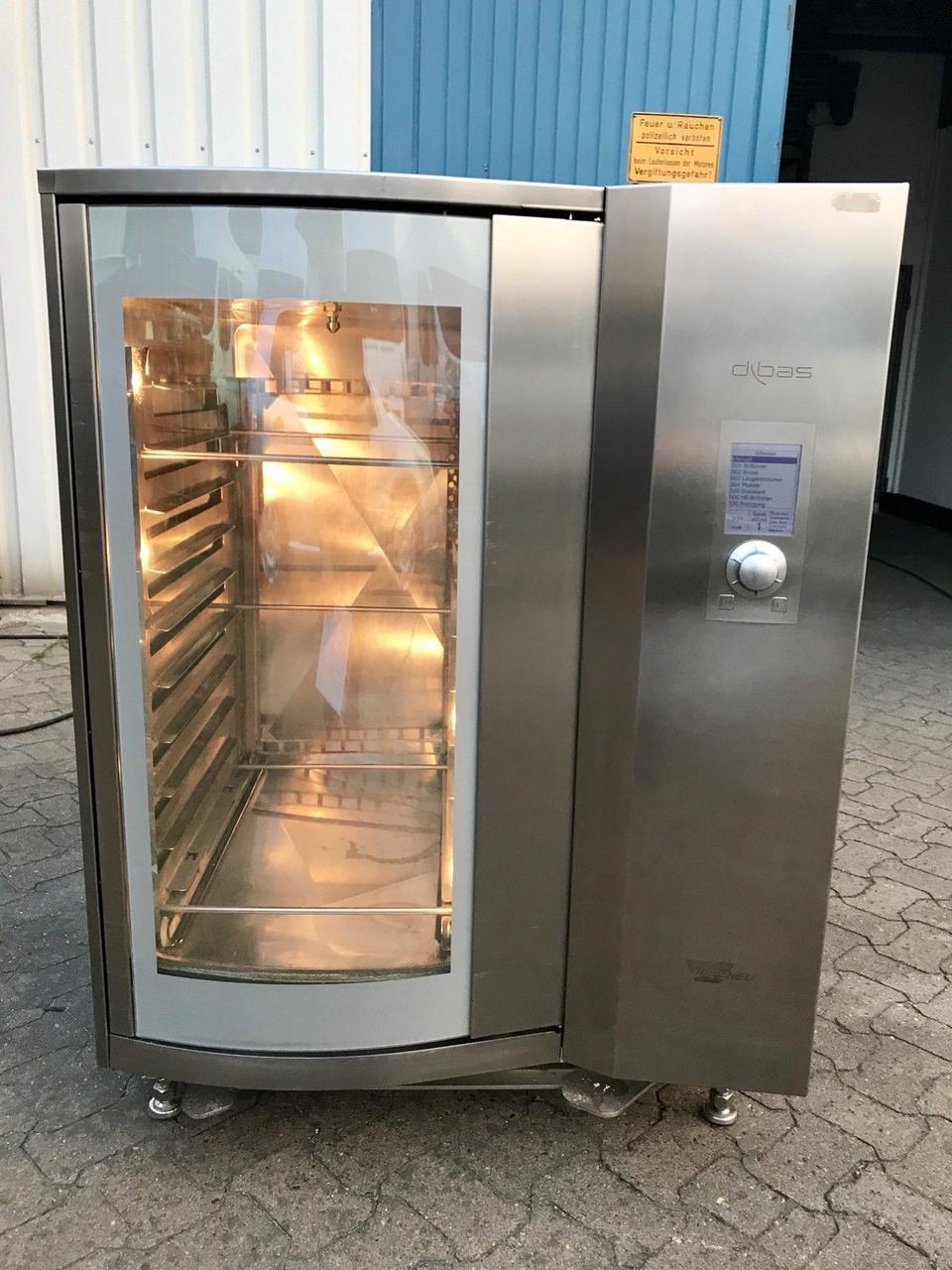 Печь хлебопекарная конвекционная утапливаемая дверь Wiesheu Dibas 64 б/у Германия 10 противней