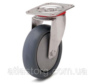 Колесо с поворотным кронштейном с площадкой, диаметр 80 мм, нагрузка 80 кг