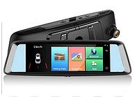 """Зеркало ШТАТНОЕ с видеорегистратором JUNSUN A8 экран - 7 """"IPS 4 G интернет GPS навигация 1080 P Car Assist"""