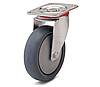 Колесо с поворотным кронштейном с площадкой, диаметр 125 мм, нагрузка 110 кг